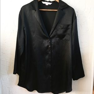Black Satin Nightshirt.  Soft and sexy!
